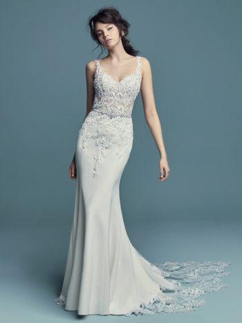 Fishtail wedding dress Alaina by Maggie Sottero