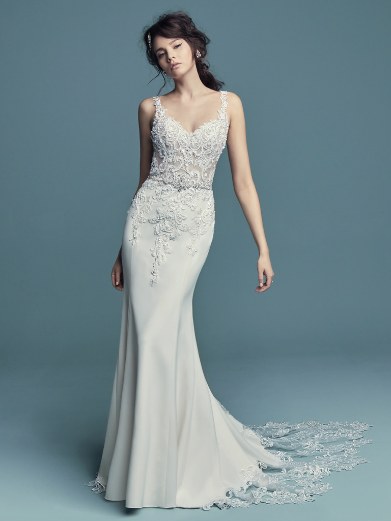 Fishtail wedding dress Alaina by Maggie Sottero